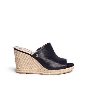 Sam Edelman 'bonnie' Leather Espadrille Wedge Mule